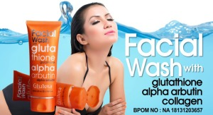 sabun wajah glutera facial wash
