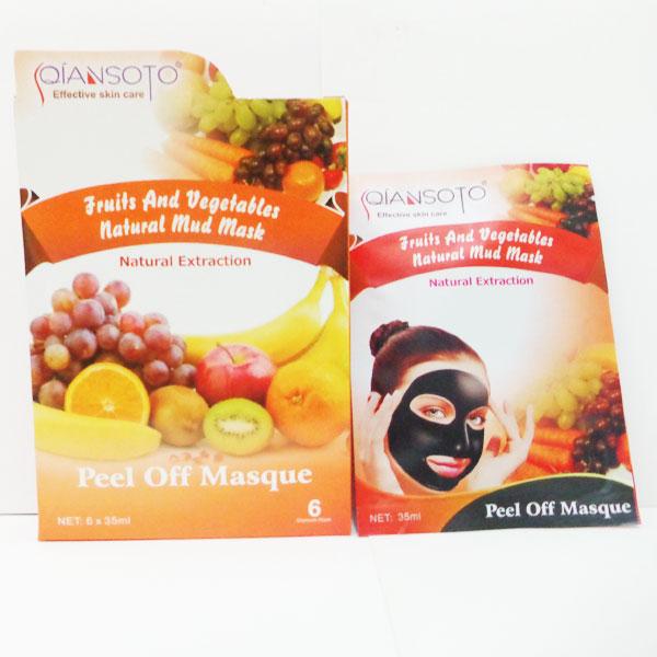 Qiansoto Masker Wajah Alami Milk Strawberry 12pcs Masker Qiansoto Pemutih Surabaya .