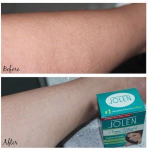 Hasil pemakaian Jolen Bleaching Cream