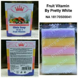 Gluta Soap 10 in 1 Fruit Vitamin Sabun Pemutih Badan
