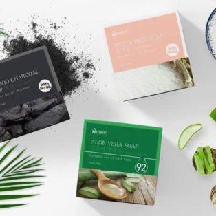 Hanasui Aloe Vera, Bamboo Charcoal, White Rice Soap Sabun Wajah & Badan BPOM