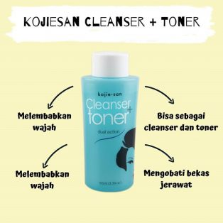 Kojie San Cleanser Plus Toner 100ml Original BPOM