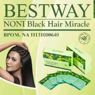 Jual Bestway Noni Black Hair Miracle Shampo Perawatan Rambut
