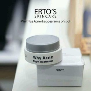 Jual Ertos Why Acne Night Cream Perawatan Wajah